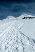 Mont Elbrus seening from Pastuchov rocks — Stock Photo