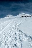 Monte elbrus seening de rocas pastuchov — Foto de Stock