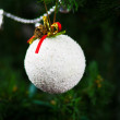 Stock Photo: Beautiful snow hanging on Christmas tree