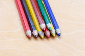 Colored pencils in a pile — Stock Photo