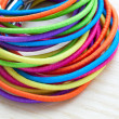 Colored rubber bands — Stock Photo