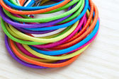 Colored rubber bands — Foto Stock
