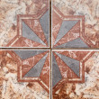 Stock Photo: Tile pattern of ancient ceramic tiles.