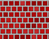 Red seamless ceramic tiles, abstract texture — Stockfoto