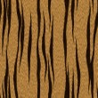 Texture of real tiger skin ( fur ) — Stock Photo