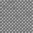 Enormous sheet of diamond plate metal — Stock Photo