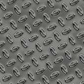 A large sheet of nice shiny chrome tread plate — Stock Photo