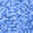 Stock Photo: Blue square tile pattern