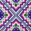 Cross stitch embroidery on canvas. — Stock Photo