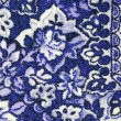 Fragment of colorful retro tapestry textile pattern with floral ornament useful as background — Stock Photo #31899175