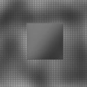 Shiny brushed titanium plate and carbon fiber — Stock Photo