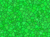 Broken tiles green pattern — Stock Photo