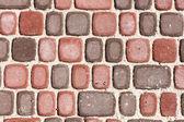 Mattoni ghighi, trama o sfondo, pavimentazione di pietra — Foto Stock