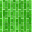 Green brick wall, perfect as background — Photo #36066439