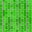 图库照片: Green brick wall, perfect as background