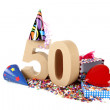 Age in figures in party mood — Stock Photo #15952999