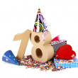 Age in figures in party mood — Stock Photo #15957325