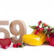 Age in figures in a party mood in Dutch style — Stock Photo #18413141