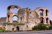 Roman bath ruins in Trier — Stock Photo