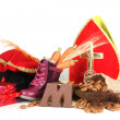 Putting shoes for Sinterklaas eve — Foto Stock