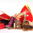 Putting shoes for Sinterklaas eve — Lizenzfreies Foto