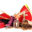 Putting shoes for Sinterklaas eve — Stock Photo #34098569