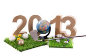 Golf in the New Year — Stockfoto