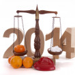 Balance for the New Year — 图库照片