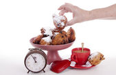 Oliebollen for the New Year — Stockfoto