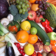 Stock Photo: Composition of fruits and vegetables