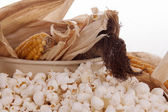 Mais and popcorn — Stock Photo