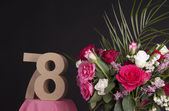 Happy birthday with roses — Stock Photo