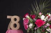 Happy birthday with roses — Stok fotoğraf