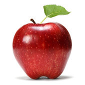 Apple with leaf — Stock Photo