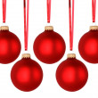 Red Christmas balls — Stock Photo #14139407