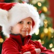 Boy with Christmas gift — Stock Photo #15798763