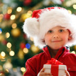 Boy with Christmas gift — Stock Photo #15798767