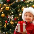 Boy with Christmas gift — Stock Photo #15798781