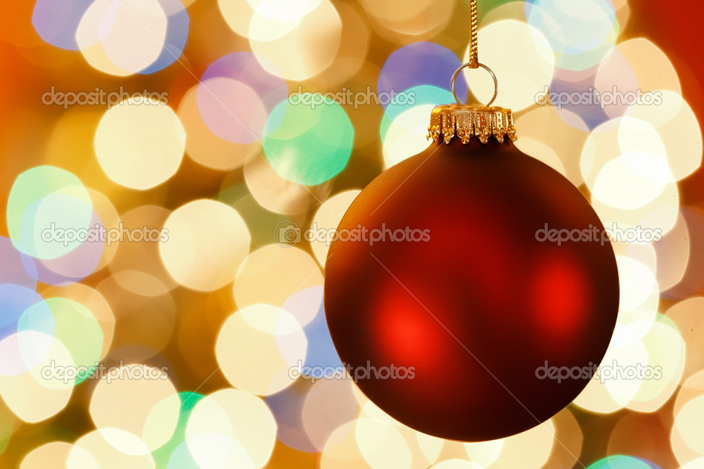 Christmas decoration with blurred lights — Stock Photo #16573611