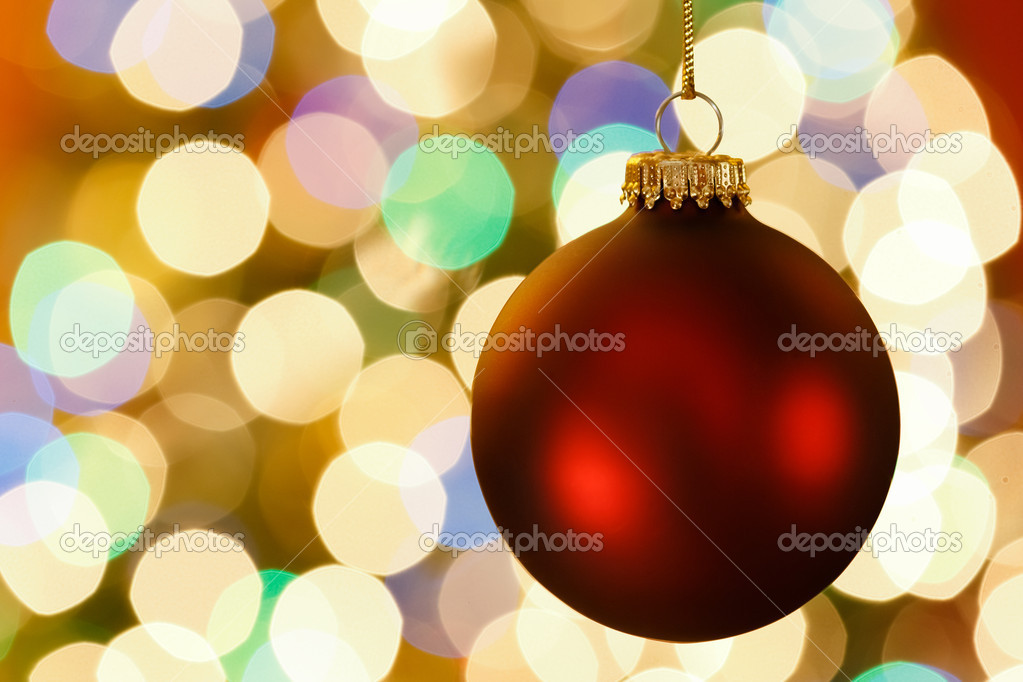 Christmas decoration with blurred lights — Stock Photo #16573655