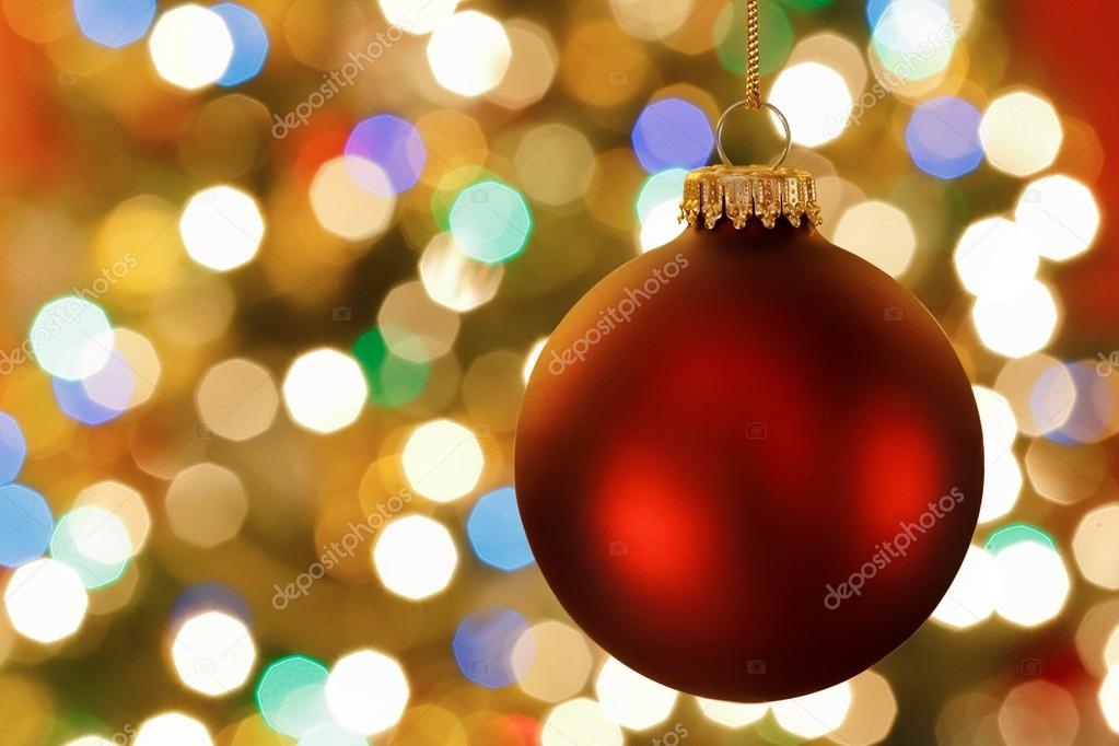 Christmas decoration with blurred lights — Photo #16573819