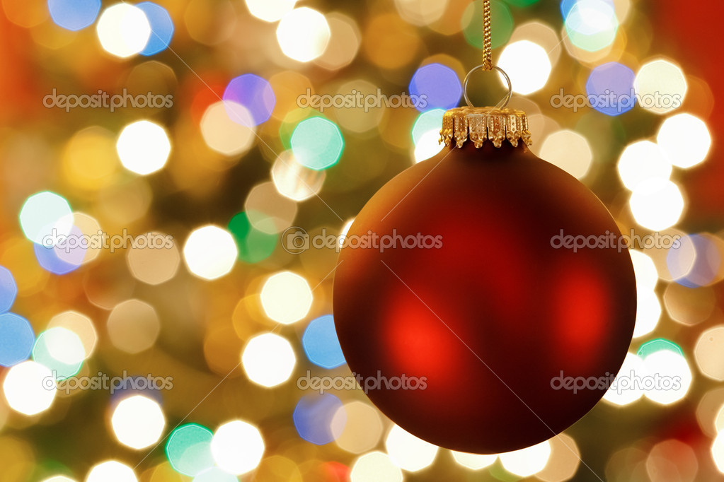 Christmas decoration with blurred lights — Stockfoto #16573819