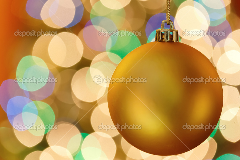 Christmas decoration with blurred lights — Stock fotografie #16621083