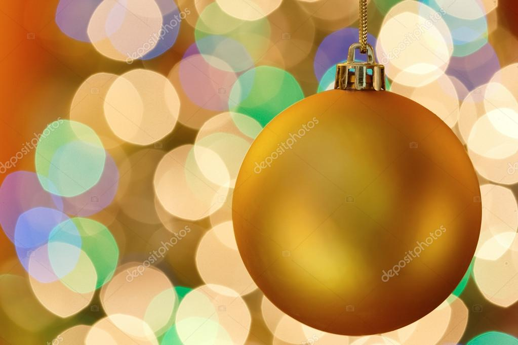 Christmas decoration with blurred lights — Stockfoto #16621083