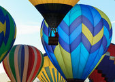 Hot air balloons festival — Stock Photo