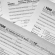 Stock Photo: Tax form