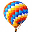 Hot air balloon isolated - Stock Photo