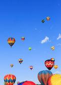 Hot air balloons festival — Stock Photo
