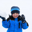 Boy with snow — Stock Photo