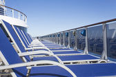 Cruise ship with vacant chairs — Stock Photo